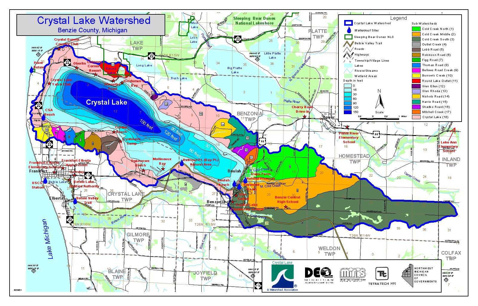 Michigan benzie county benzonia - Section 24 2 Watershed Overlay District